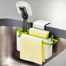 Полезная кухонная коробка для хранения губка держатель для слива мыла полка органайзер корзина инструменты для мытья кухонные аксессуары Organizador