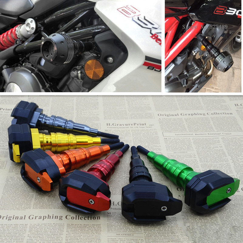 New CNC Aluminum Motorcycles Drop Resistance Protector Cups Motorcycle Accessories Universal For Benelli BJ300 BJ600 BN600 XJ600