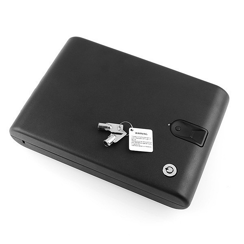portable fingerprint biometric lock case valuable jewelry safe box with security cablechina - Biometric Safe