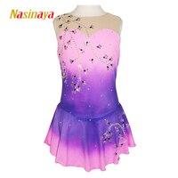 Nasinaya фигурное катание платье заказной конкурс Катание на коньках юбка для девочки Для женщин дети patinaje гимнастика производительность 212