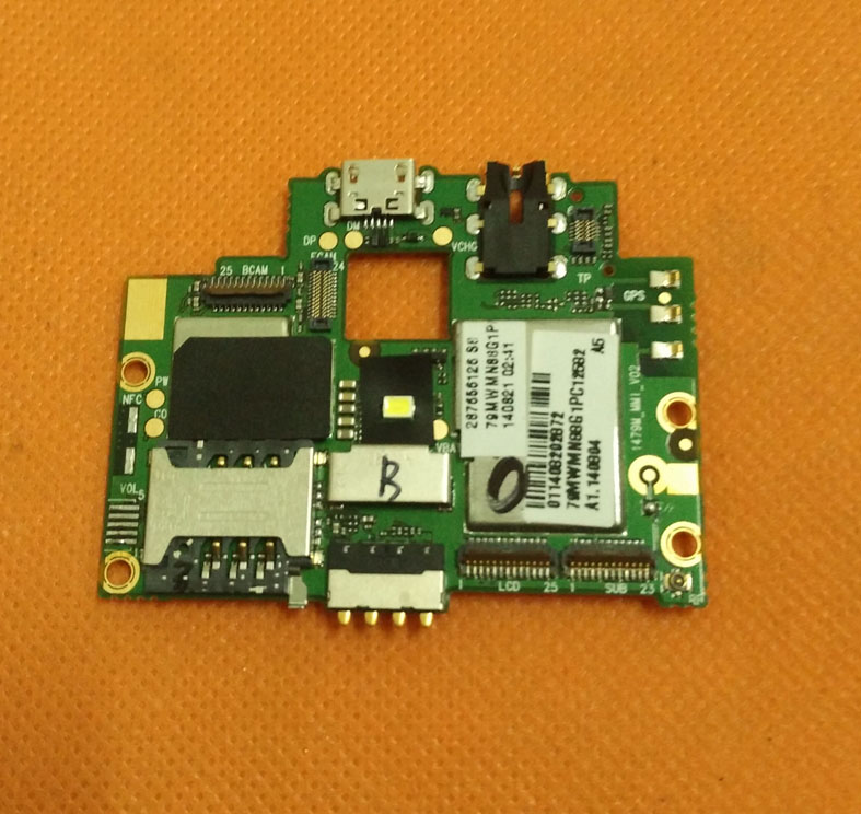 Used Original mainboard 1G RAM+8G ROM Motherboard for Laude S800 MTK6582 Quad Core 5.0 QHD 960x540 Free shipping
