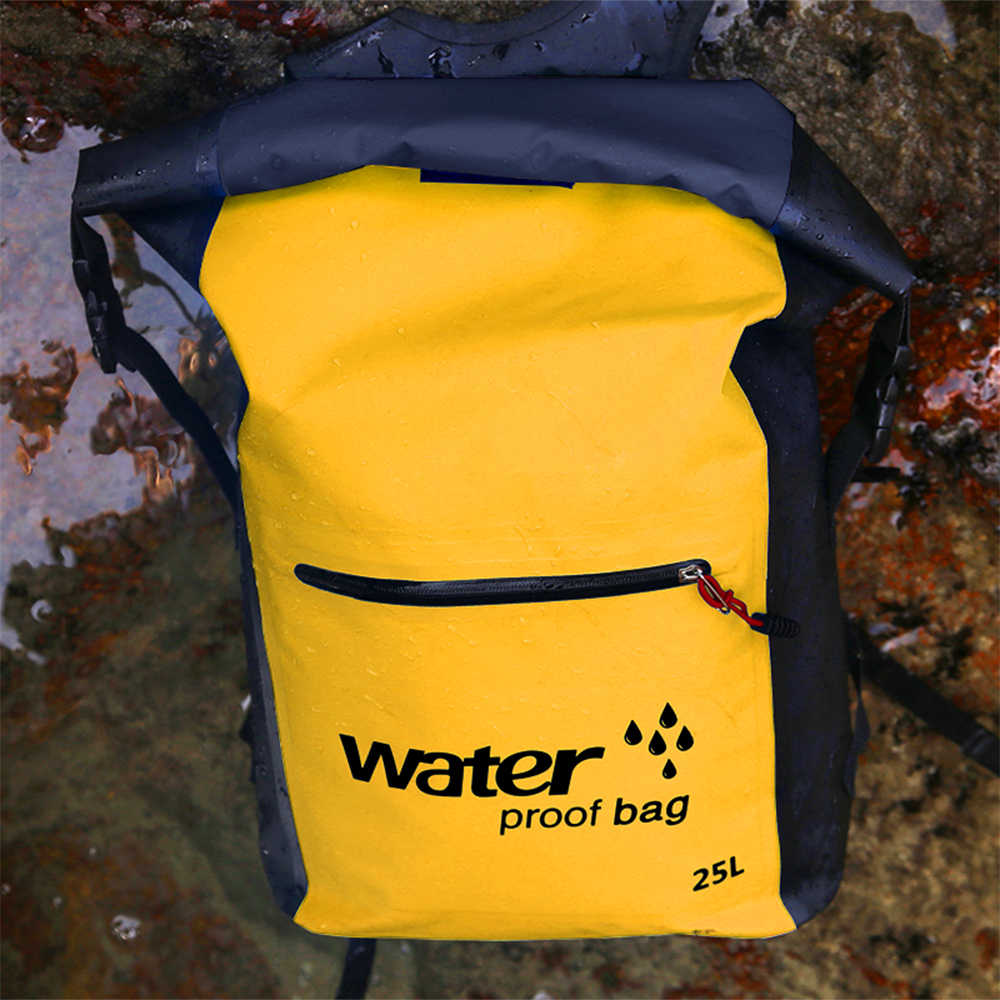 25L Waterproof Dry Bag Roll Top Floating River Trekking Backpack Outdoor Swimming Bags for Kayaking Rafting Boating