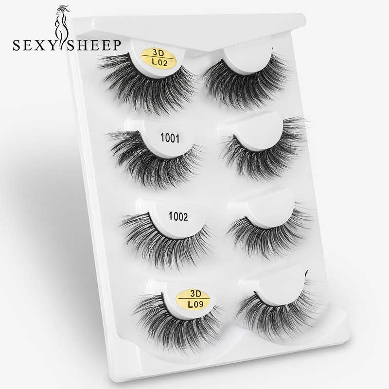 86f39891d29 ... SEXYSHEEP 2/4 pairs natural false eyelashes fake lashes long makeup 3d  mink lashes eyelash