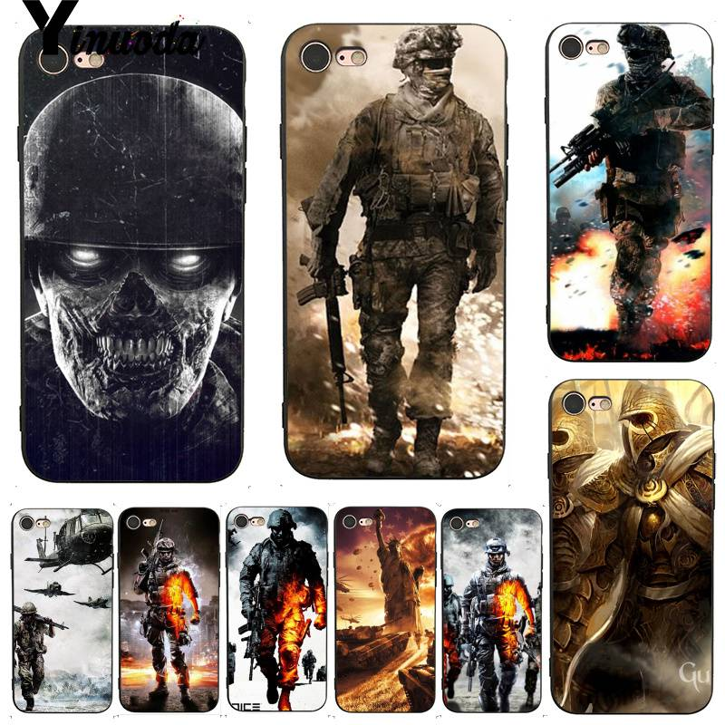 Yinuoda For iphone 7 6 X Case Battle Army Soldiers First-rate Phone Accessories Case for iPhone 7 6 X 8 6s Plus 5 5S SE XS XR image