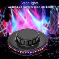 Taşınabilir UFO LED RGB Sahne Işık Ses Kontrolü Dönen Etkisi Sahne Lamba KTV DJ Disko Parti Bar Aydınlatma Atmosfer lambalar
