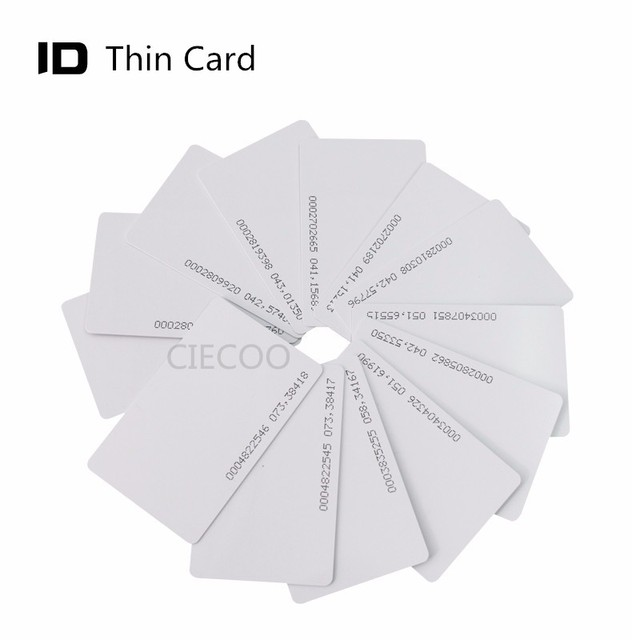 10 pieces / lot ID thin card for door access control 125KHZ RFID card for door access card reader