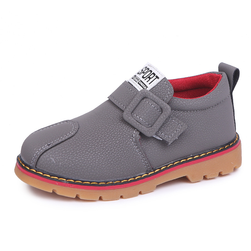 Childrens Leather Shoes Girls Boys Soft Flat Heel European Spring Fall Winter Kindergarten Baby Casual Sneakers