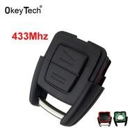 OkeyTech 2 Botón 433 Mhz Auto Car Llavero de Control Remoto de Alarma Entrada sin llave para el Caso Clave para Opel Vauxhall Opel Astra Zafira