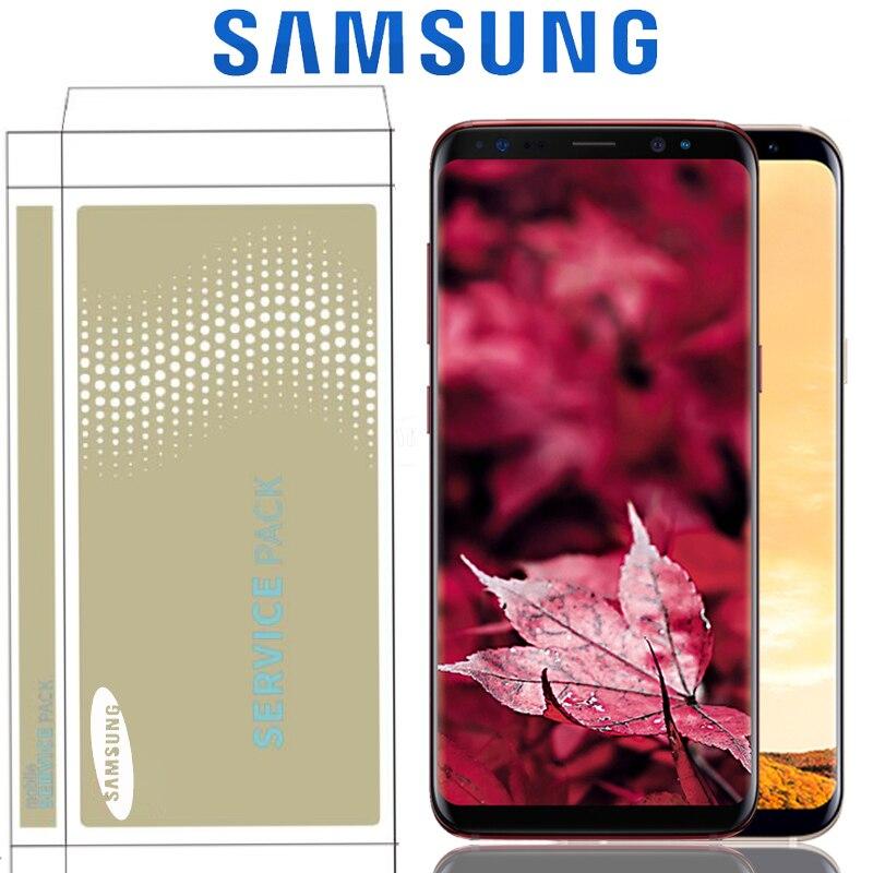 Original The Burn Shadow Display For Samsung Galaxy S8 G950F G950U S8 Plus LCD G955 G955F