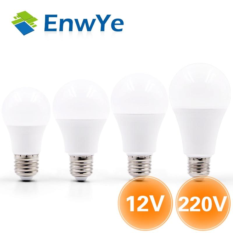 EnwYe LED Bulb Lamp E27 6W 9W 12W 15W DC12V / AC 220V Smart IC Real Power Cold White/Warm White Lampada Ampoule Bombilla LED