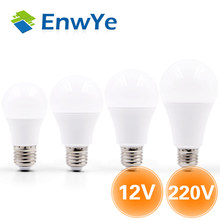 EnwYe LED Bulb Lamp E27 6W 9W 12W 15W DC12V / AC 220V Smart IC Real Power Cold White/Warm White Lampada Ampoule Bombilla LED(China)