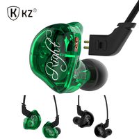 KZ ZSR Earphone Balanced Armature 2BA 1DD Unit Noise Cancelling Headset With Mic Stereo Bass Mp3
