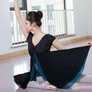 Image 2 - New Adult Contemporary Dance Ballet Dress Short Sleeve Leotards Woman Gymnastics Mesh Dancing Clothes Ballet Training Performanc