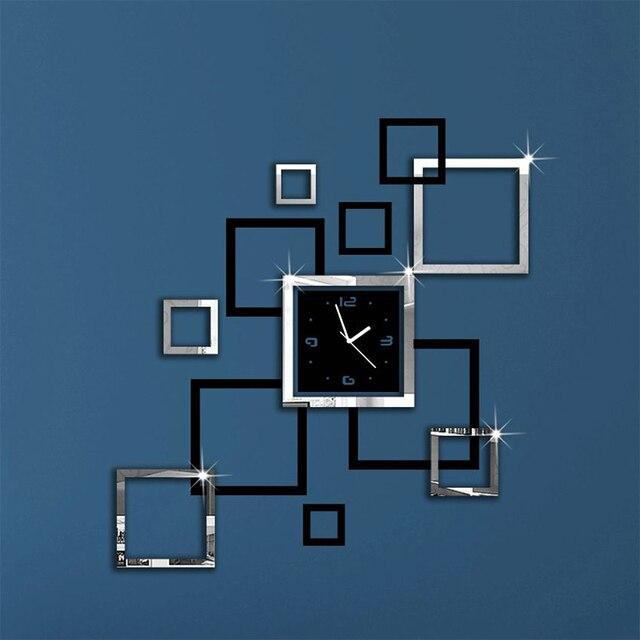 Nieuwe hot top fashion 2017 wandklokken moderne spiegel 3d diy ...