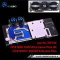 BYKSKI Water Block use for ZOTAC GTX1080/1070-8GD5X Extreme PLUS OC/ GTX1070TI-8GD5 Exteme Full Cover Graphics Card Copper Block