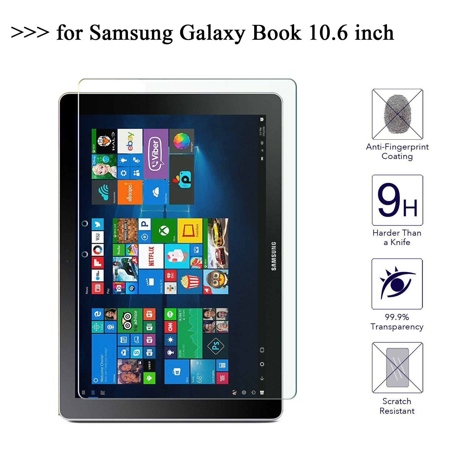 For Samsung Galaxy Book 10.6 Inch Screen Protector Glass 9H Tempered Glass For Samsung Galaxy Book Tablet Protective Film tempered glass for samsung galaxy note 10 1 n8000 n8010 tablet screen protector film premium for samsung note 800 glass film 9h