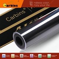 High Glossy 5D Carbon Fiber Black 4D Texture Car Wrap Vinyl Sticker Air Release Glue 1