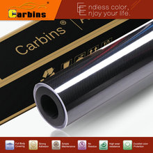 High Glossy 6D Carbon Fiber Black 4D Texture Car Wrap Vinyl Sticker Real Carbon Look