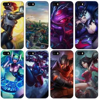 League Legends lol Jinx Zed Black Plastic Case Cover Shell for iPhone Apple 4 4s 5 5s SE 5c 6 6s 7 Plus лол блинг