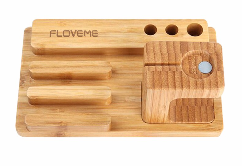 For iPhone Apple iWatch Wood Charge Holder (8)