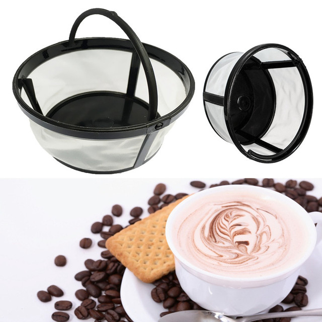 Morden 1pc 4 Cup Basket Style Permanent Coffee Filter Diy Dripper Pour Over Cafe