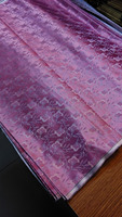 Chinese Silk Brocade Fabric Cheongsam Pink Back Impatiens Balsamina Flower 2 Diffrent Color Hangzhou