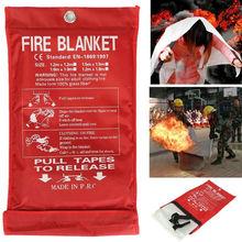 Пожарное одеяло 1×1 м аварийное Выживание безопасность пожаров стекловолокно одежда 0,45 мм предаварийное Выживание пожарное укрытие пожарное одеяло