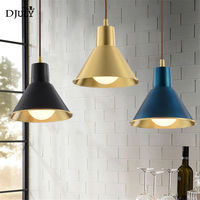 American copper Navy blue retro pendant lights for clothing store bar industrial lamp led kitchen fixtures loft villa luminaire