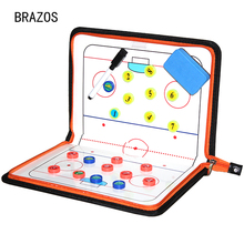 Zipper Ice Hockey Tactic Board Coach Tactical Advance Game Referee Training Tactics Magnetic Ball Clipboard