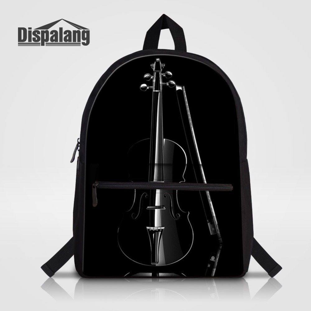 Energetic Dispalang 3d Violin Children School Bags Musical Note Laptop Backpack For Teenage Boy Girl Women Men Canvas Shoulder Bag Bagpack Men's Bags