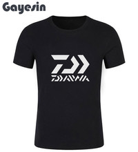 New Daiwa Fishinger Logo Men's Black T-Shirt Size S To 2XL Classic Cotton Men Round Collar Short Sleeve Short Sleeve T Shirt#184