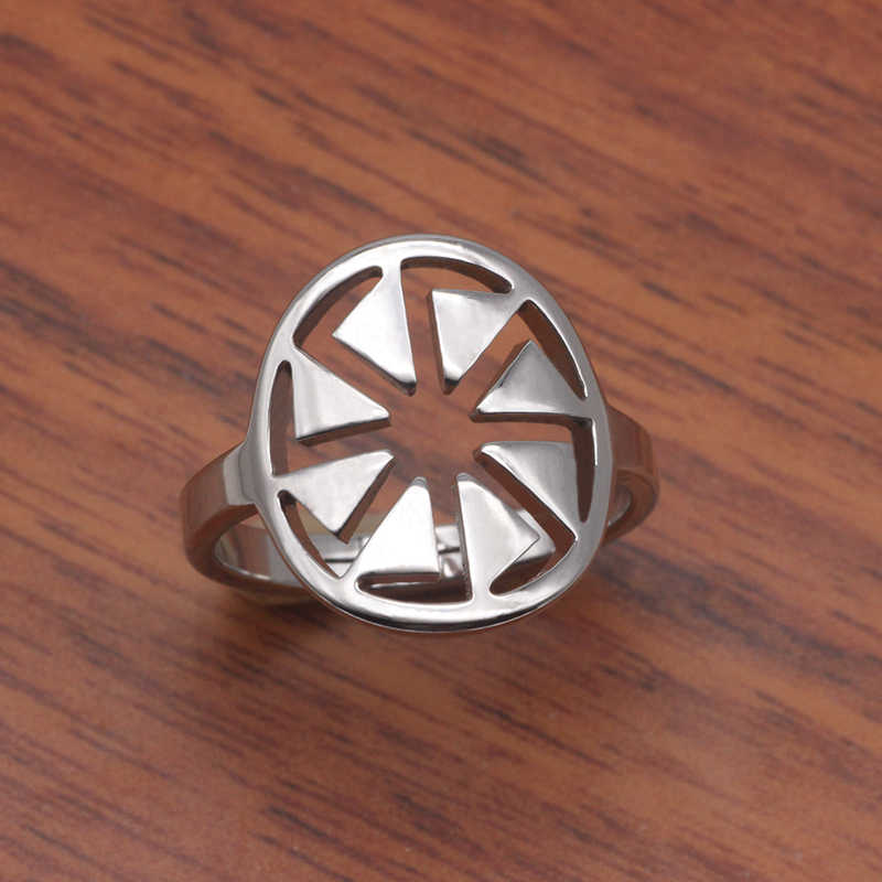 Geometric Open Design Ring Unique Sun Stainless Steel  Rings Jewelry Best Christmas Gift for Men and Women YP3956