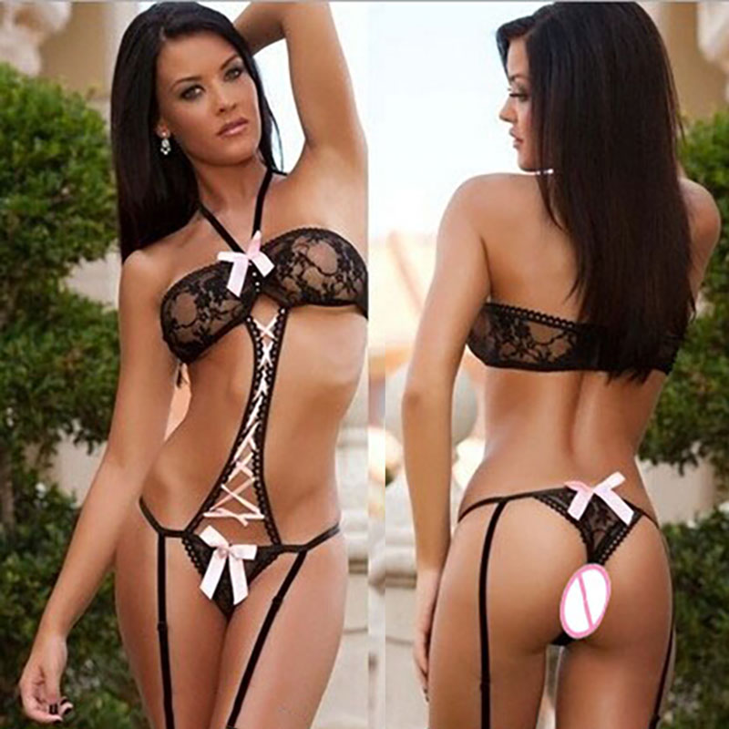 Thierry couple flirting erotic transparent female sex products sex toys thongs connected bra for women enhance