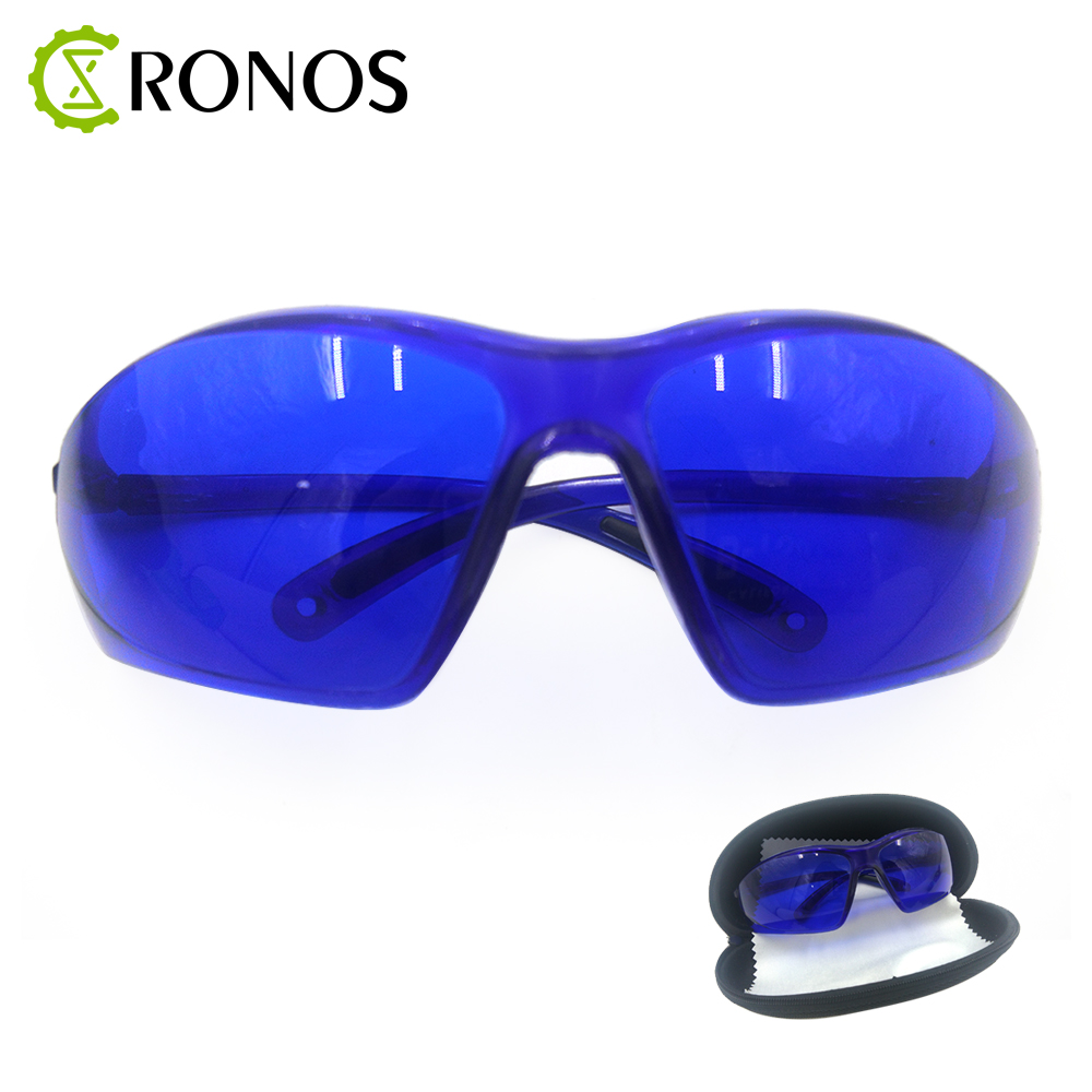 Free Shipping 1 Set Blue Goggles Laser Safety Glasses 190nm to 540nm Laser protective eyewear With Velvet Box