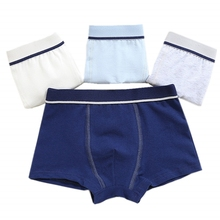 4pcs Panties for Boys Comfortable Cotton Kids Soft Solid Underwear Children Boxers Baby Bragas Calcinha Infantil Teenage Briefs