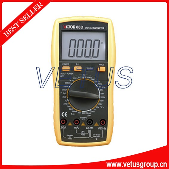 Wholesale Digital Multimeter VICTOR 88D Handheld digital multimeter victor digital multimeter vc9804a  3 4