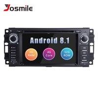 2Din Android 8.1 Car DVD Multimedia For Jeep Grand Cherokee Chrysler 300C Dodge Ram Compass Patriot Sebring GPS Navigation Radio