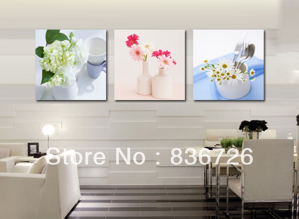Free Shipping 3 Piece Canvas Wall Art Modern Painting For Dining Room Restaurant Decor