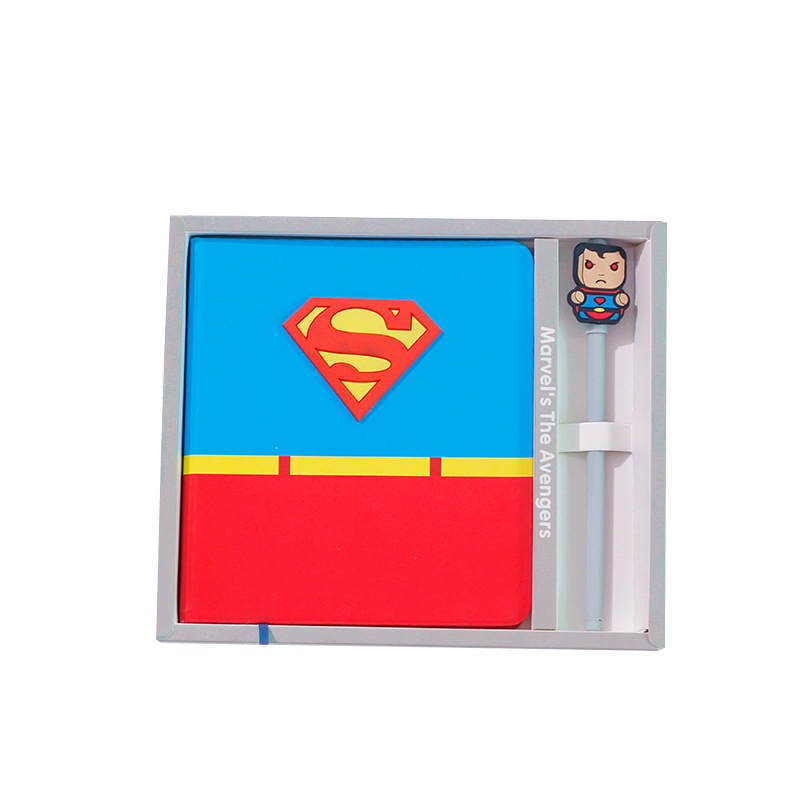 Image 5 - Cartoon Super Hero Series Notebook + Pen, Creative Boys School Gifts Planner Diary Set with Pens-in Notebooks from Office & School Supplies