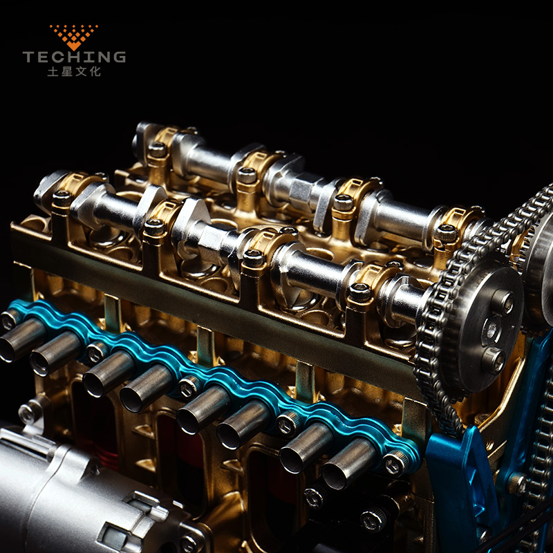 Full Metal Assembled Four cylinder Inline Gasoline Engine Model Building Kits for Researching Industry Studying Toy Gift in Model Accessories from Toys Hobbies
