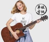 Ель одноплатная Акустическая гитара 41/40 дюймов свет баллада гитара мальчик и девочка день рождения подарок на праздник