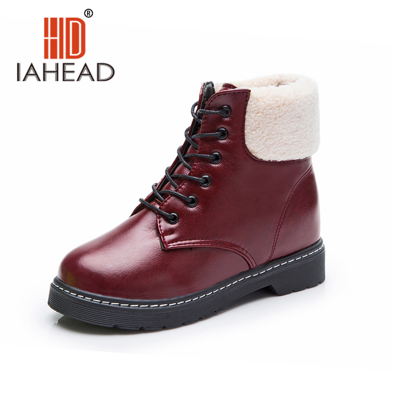 IAHEAD Women Shoes Spring Boots   Russia Female  Boots women ankle lace-up Shoes Fashion Casual shoes  Boot UPB07 unisex boots men canvas shoes women ankle boot spring outdoortravel mountaineering camping casual shoe breathable lovers boots