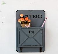 YIHONG retro caja de Madera de Montaje En Pared Caja de cartas para llavero ganchos organizadores estantes de la Pared 2 ganchos de Cuelgue A1500c