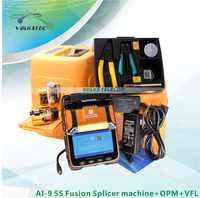 5S AI-9 Fusion splicer Machine SM & MM VFL OPM Splicing Machine with FRENCH RUSSIAN SPANISH PORTUGUESE