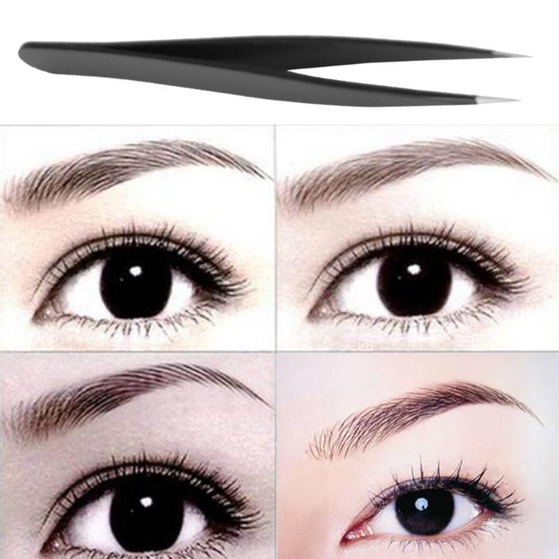 Us 0 96 21 Off 1pc Anti Static Stainless Steel Straight Acuate Eyebrow Tweezers Eyelash Extension Nail Art Diy Makeup Tools Kit In Eyebrow Tweezers