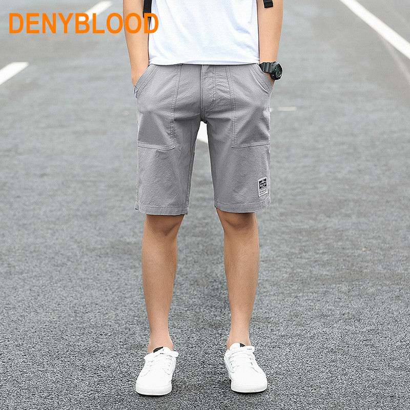 Plus Size M 3XL 2017 Summer Mens Washed Cotton Casual Chinos Shorts Males Multi Colours Bermuda
