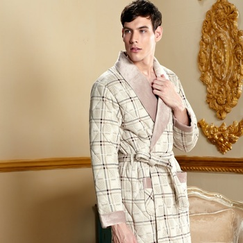 Plus size Winter male thick bathrobe Cotton-padded robe pajamas High Quality male sleepwear homewear Couple lounges pajamas 0627
