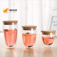 150 шт. с двойными стенками стеклянные кофейные чашки