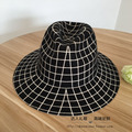 Sir In Europe and the big cap double black hat M standard black and white plaid character joker hats for men and women