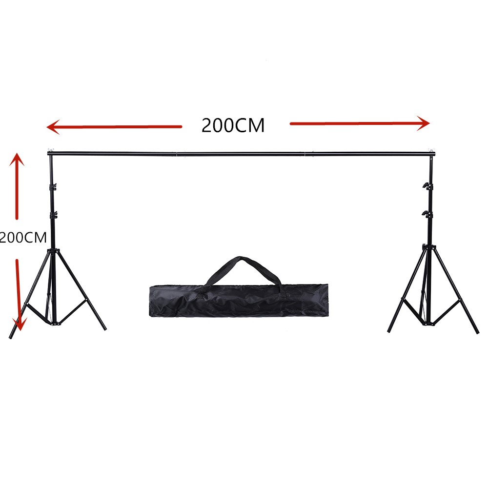 2MX 2M(6.5ft*6.5ft) Photo Background Support System Stands Adjustable Backdrop Photograpy Backdrops For Photo Studio